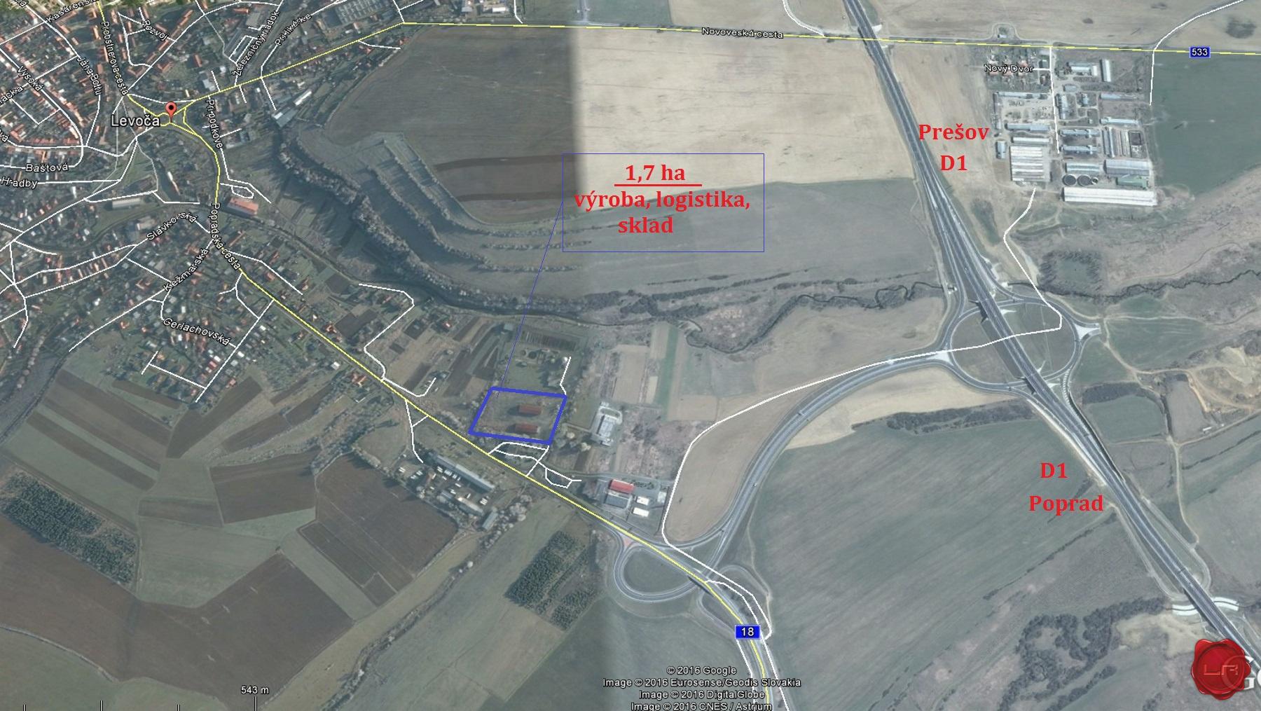 Prenájom podnikateľský areál Levoča
