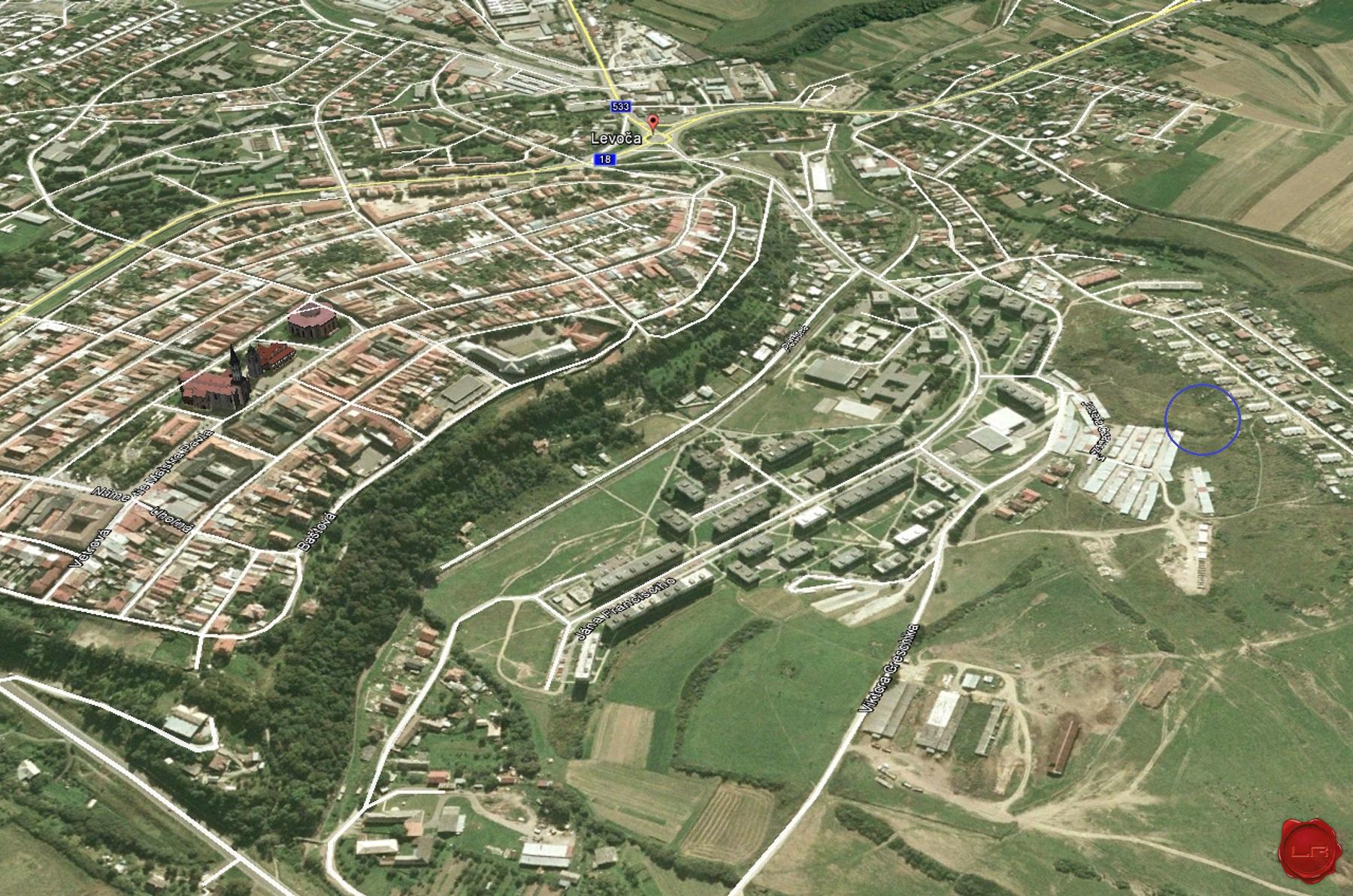 Pozemok (3000 m2) sídl. Západ Levoča